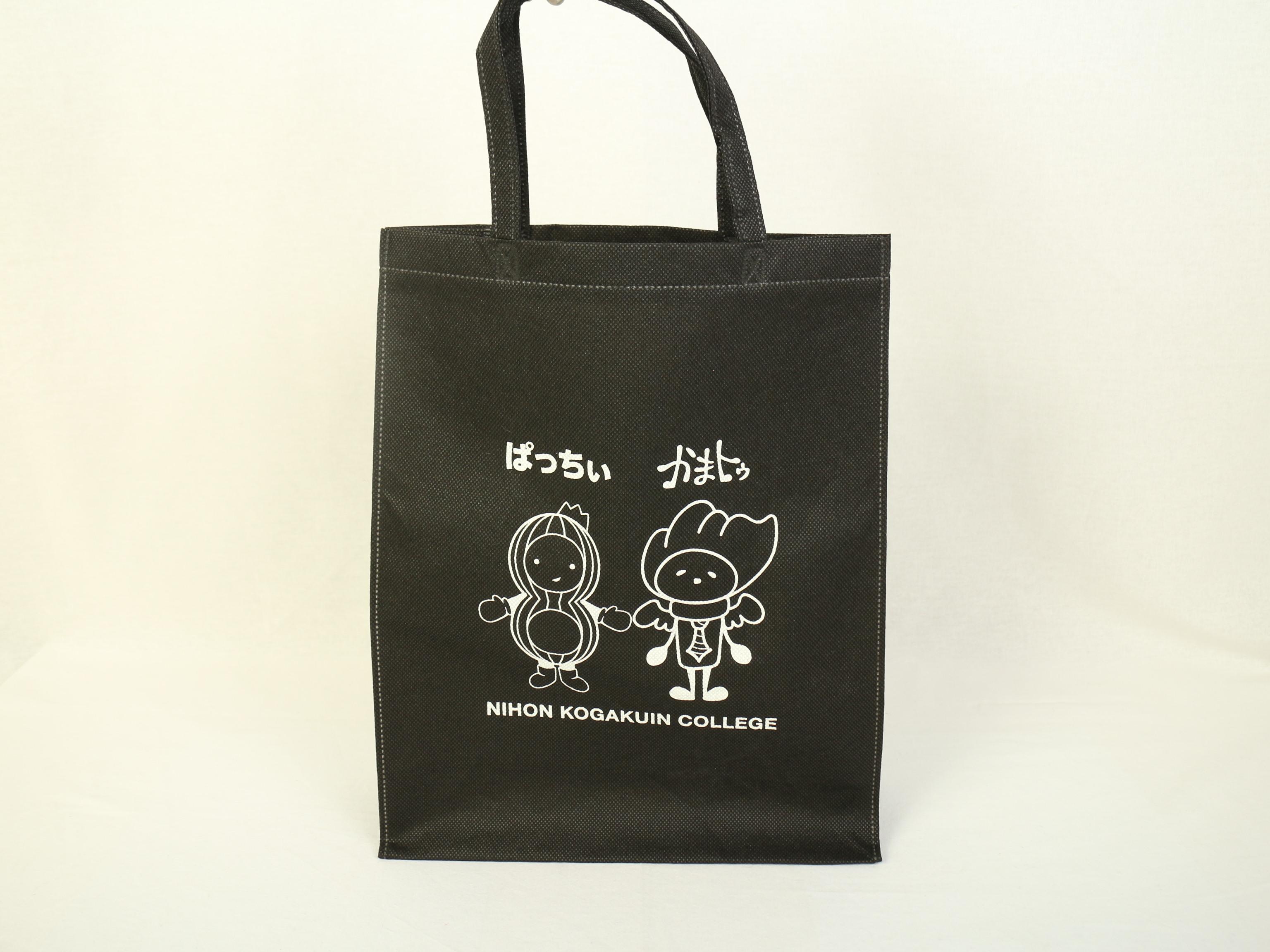 東京の専門学校様のキャラクターを印刷したオリジナル不織布