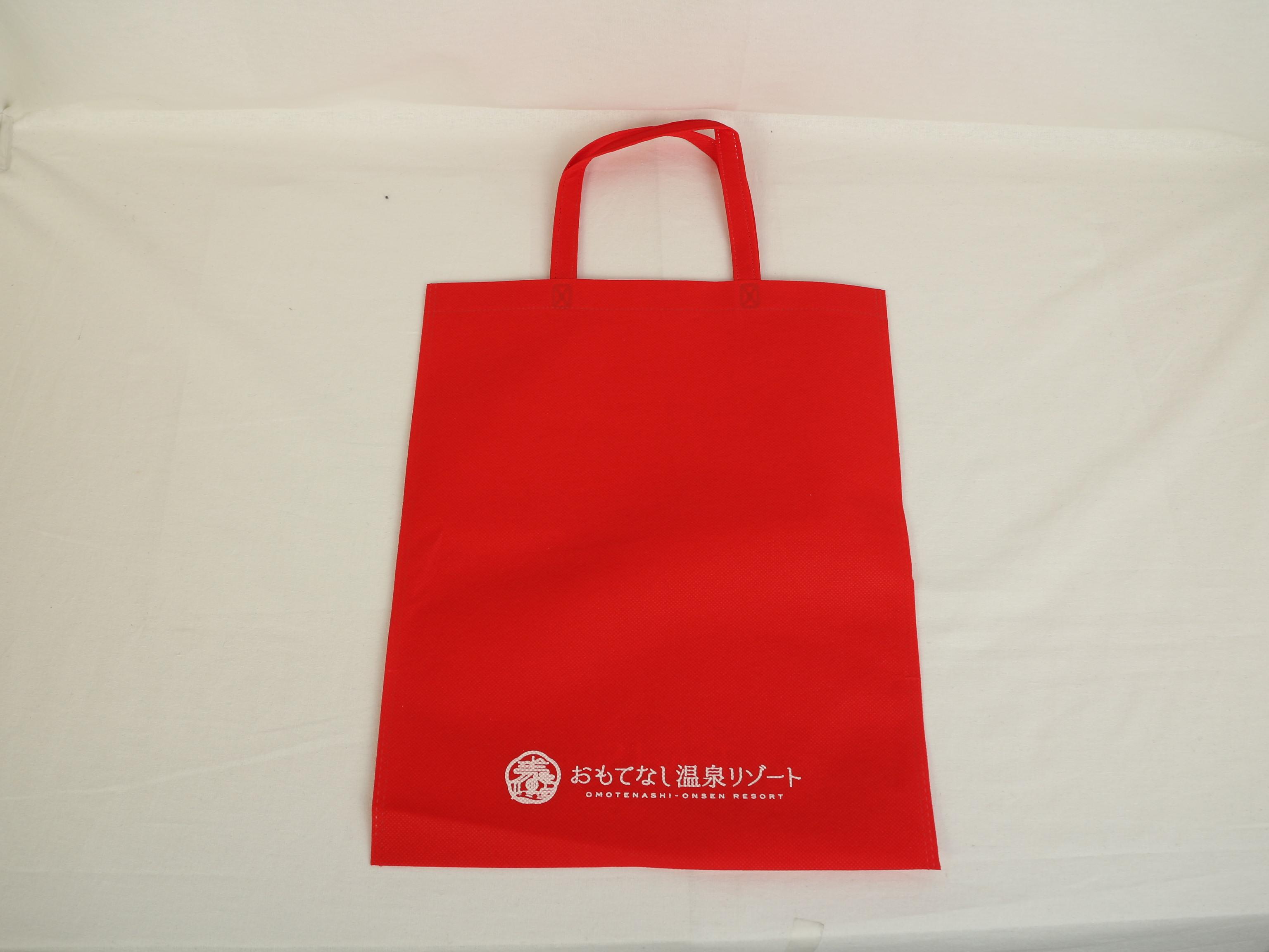 温泉宿泊施設様のイベント用不織布バッグ