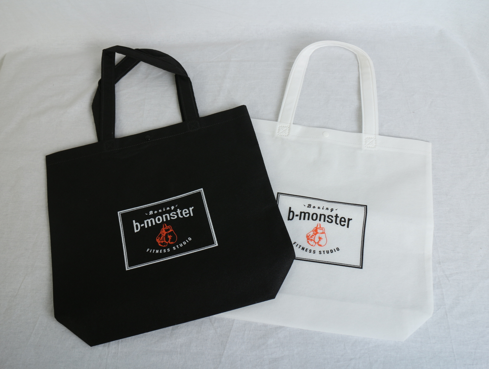 フィットネスクラブのオリジナル不織布バッグ