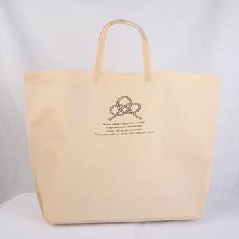 ナチュラルな色合いのオリジナル不織布バッグ
