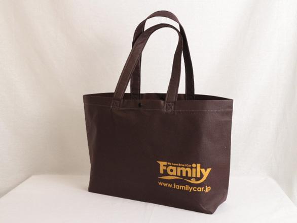 会社説明会で資料を入れるための不織布バッグ