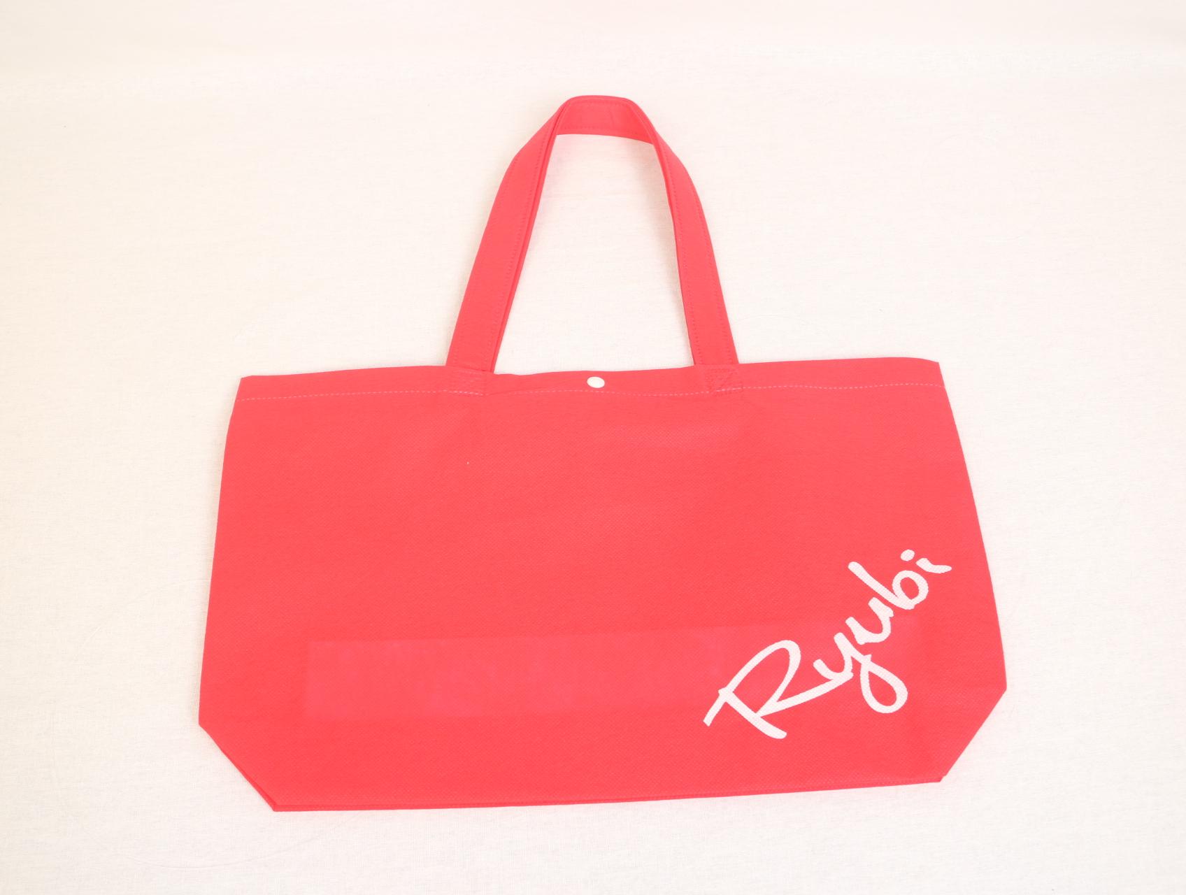 沖縄県にあります学園様のオリジナル不織布バッグ