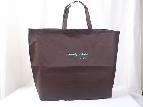 コインランドリー様でご利用になられる大きいサイズの不織布バッグ