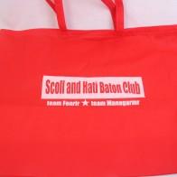 バトントワーリング教室でご利用になられる大きいサイズの不織布バッグ
