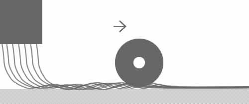 スパンボンド法のイメージ