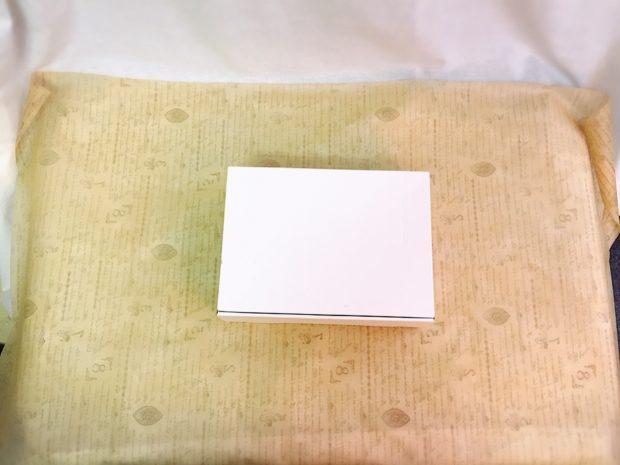 不織布シートに箱を設置